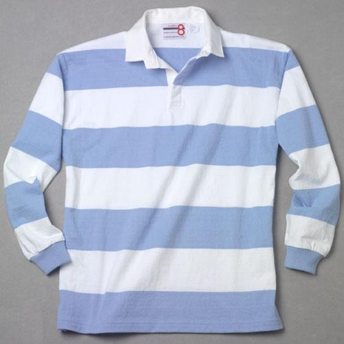 White Light Blue Rugby Shirt