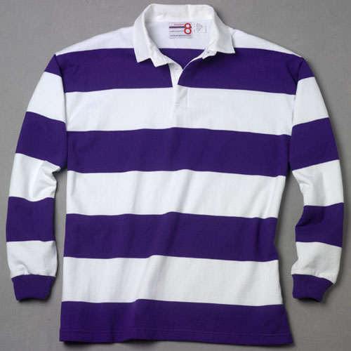 21a3671a1e7 White Purple Rugby Shirt – number 8 rugby shirts